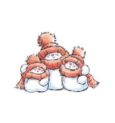 Schneemann-Familie Stempel
