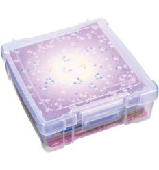 """Lagerbox klein für Scrapbooking-Papier transparent 6"""""""