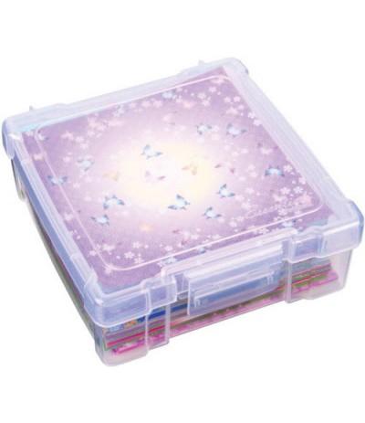 "Lagerbox für Scrapbooking-Papier transparent 6"""