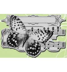 Stampendous Cling Butterfly Tune
