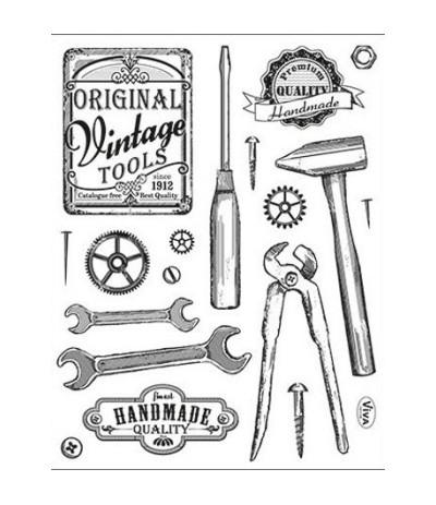 Viva Decor Vintage Tools Clear Stempel