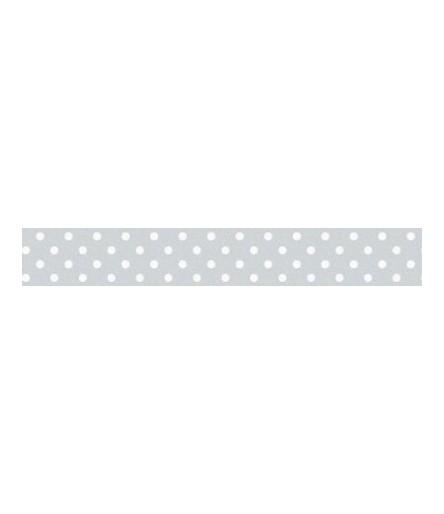 Washi Tape Grey mit weissen Punkten