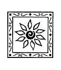 Blume in Rahmen Stempel