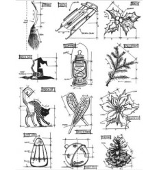 Tim Holtz Collection Mini Blueprint
