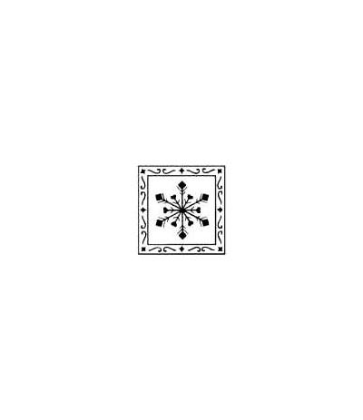 Schneeflocke in Rahmen Holzstempel
