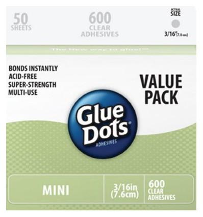 Glue Dots Mini Rund 5 mm Grosspakung