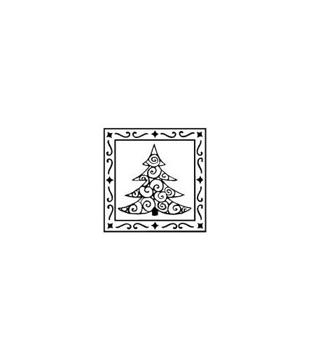 Tannenbaum in Rahmen Stempel