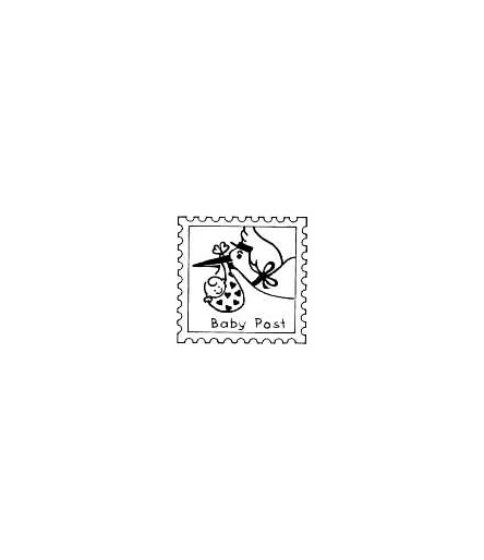 Briefmarke Storch Babypost Stempel
