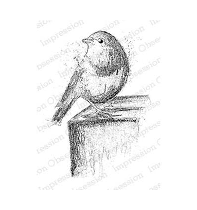 Impression Obsession Stempel Watercolor Robin