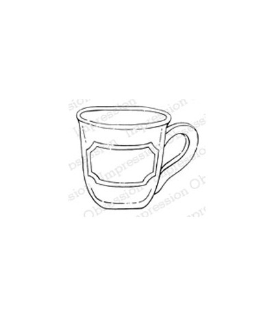 Impression Obsession Holz Stempel Coffee Cup
