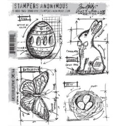 Tim Holtz Blueprint Easter