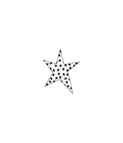 Sternen in Stern Stempel
