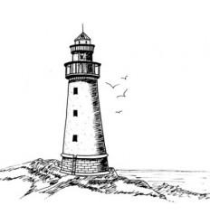 Leuchtturm Stempel