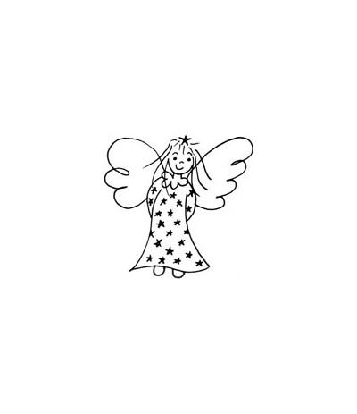 Sibyllas Engel klein Holzstempel