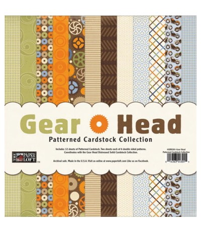 "Gear Head Cardstock 12""x12"""