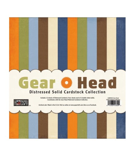 Gear Head Solid Cardstock 12""
