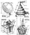 Tim Holtz Birthday Blueprint