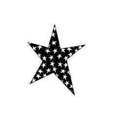 Sternen in Stern Negativ Stempel