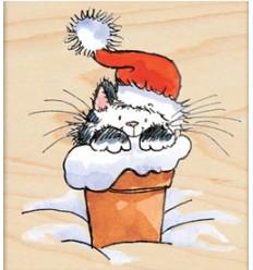 Katze in Topf Stempel