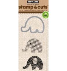 Hero Arts Clear Stamps et Stanzen Elefant