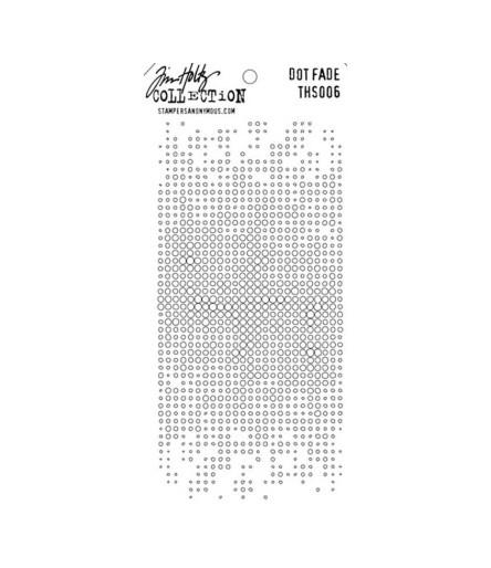 Tim Holtz Stencil/Schablonen Dot Fade Layering