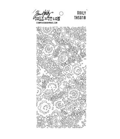 Tim Holtz Stencil/Schablonen Doily Layering