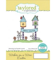 Taylored Wish on a Wire Easter Cling Stempel