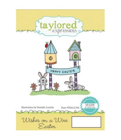 Taylored Cling Stempel Wish on a Wire Easter Cling Stempel