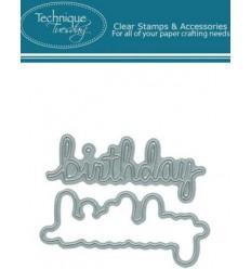 Technique Tuesday Stanzschablonen Happy Birthday und Hinter