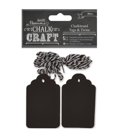 Chalk Craft Chalkboard Tags & Twins