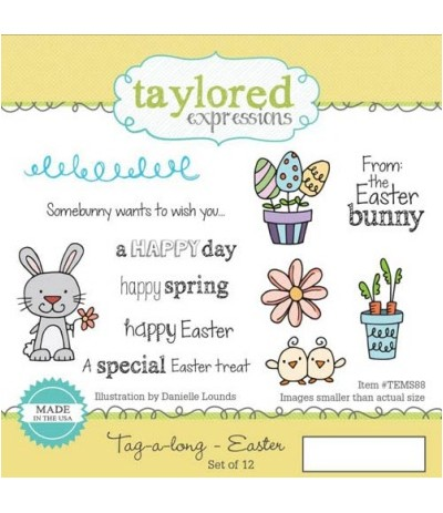 Taylored Cling Stempel Easter