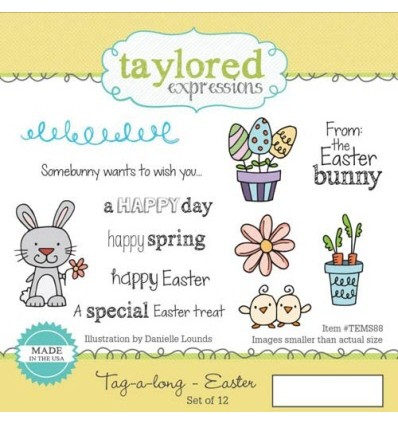Taylored Easter Cling Stempel