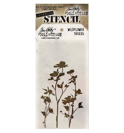 Tim Holtz Stencil/Schablonen Wildflower