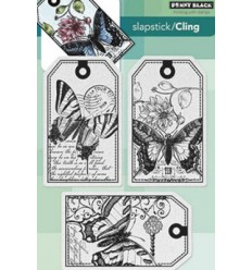 Penny Black Cling Stempel Tag Butterfly Party