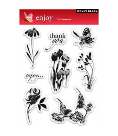 Penny Black Clear Stamps Enjoy