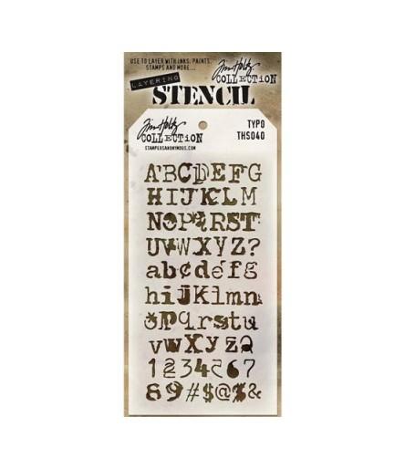 Tim Holtz Stencil/Schablonen Typo