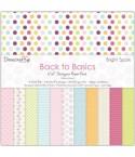 "Dovecraft Back To Basics Scrapbook Papier Bright Spark 6x6"""
