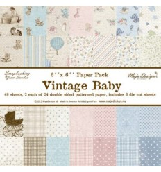 "Maja DesignScrapbook Papier Vintage Baby 6x6"""