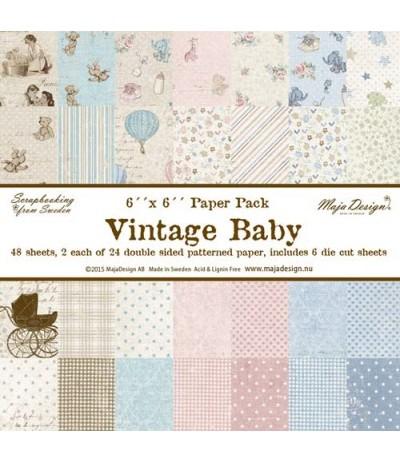 """Maja Design Scrapbook Papier Vintage Baby 6""""x6"""""""