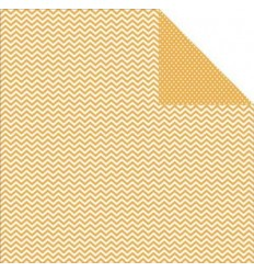 Simple Stories Scrapbook Papier Chevron/Mini Dots Mustard