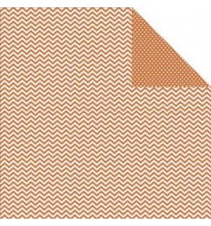 Simple Stories Scrapbook Papier Chevron/Mini Dots Rust