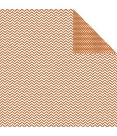 Simple Stories Scrapbook Papier Chevron/Mini Dots Rust