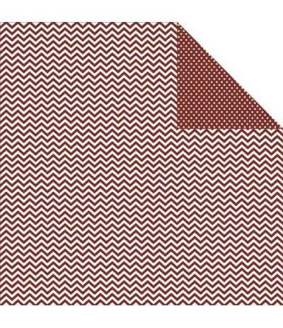 Simple Stories Scrapbook Papier Chevron/Mini Dots Brick