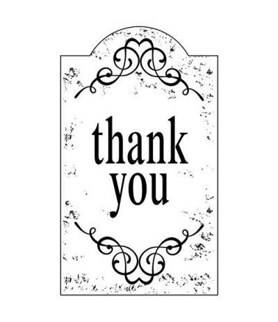 Thank You Holzstempel - Artemio