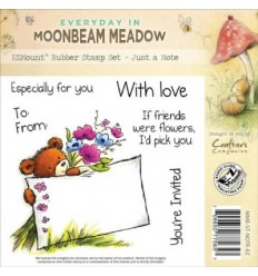 Crafters Moonbeam Meadow Cling Stempel Just a Note