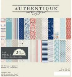 """Authentique Scrapbook Papier Seaside 6""""x6"""""""