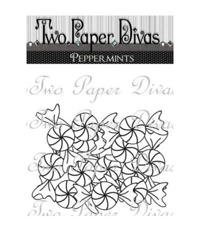 Two Paper Divas Clear Stamps Peppermints