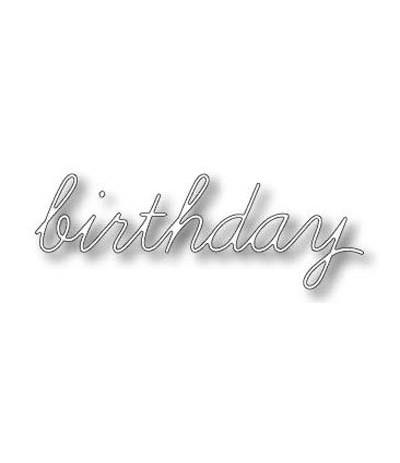 Memory Box Stanzschablone birthday
