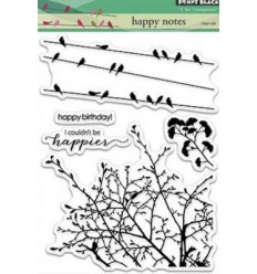 Penny Black Clear Stempel Happy Notes