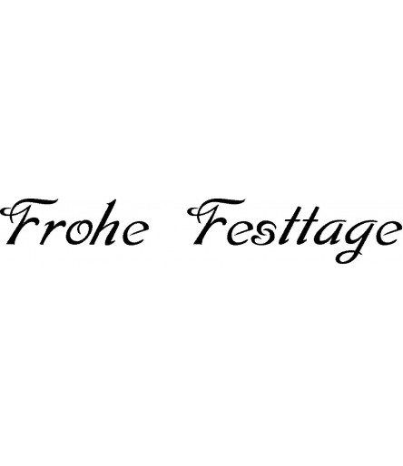 Frohe Festtage Stempel